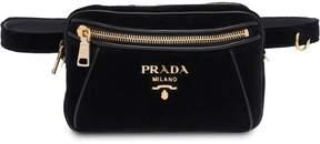 Prada Velvet and leather belt bag