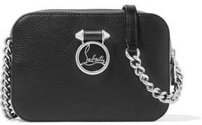 Christian Louboutin Rubylou Textured-leather Shoulder Bag - Black