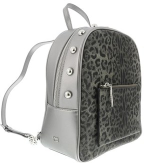 Roberto Cavalli Leoglam 007 Dark Grey/gun Metal Backpack.