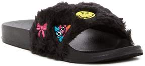 Mia Fuzzy Faux Fur Emoji Slide (Little Kid & Big Kid)