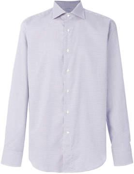 Canali micro motif dress shirt