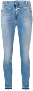 Closed double waistband faded skinny jeans