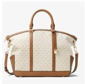 Michael Kors Beckett Large Logo Satchel - Vanilla - 30T7GBUS3B-150 - ONE COLOR - STYLE