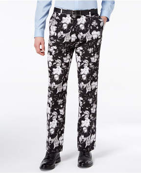 INC International Concepts I.n.c. Men's Slim-Fit Ottoman Floral-Print Pants, Created for Macy's