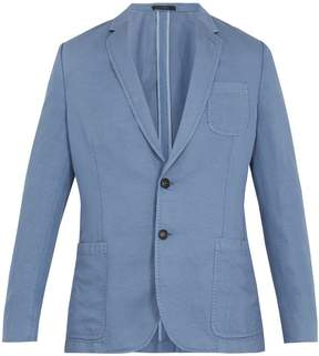 Paul Smith Single-breasted linen and cotton-blend blazer