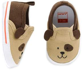 Carter's Baby Boy Puppy Slip On Crib Shoes