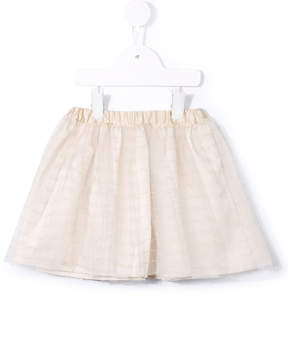 Familiar striped flared skirt