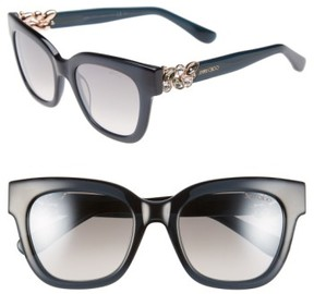 Jimmy Choo Women's 'Maggi' 51Mm Crystal Embellished Sunglasses - Dark Grey