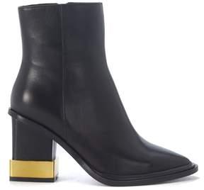 Kat Maconie Paloma Black Leather Ankle Boots