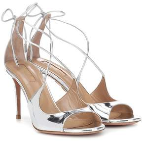 Aquazzura Sofia 85 leather sandals