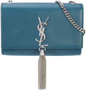 Saint Laurent Kate chain tassel shoulder bag - BLUE - STYLE