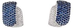 Damiani Pavé Sapphire & Diamond Earclips