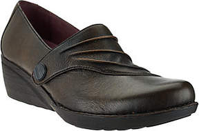 Dansko Leather Wedge Slip-ons with RuchedDetail - Aimee