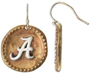 Dayna U Sterling Silver Alabama Crimson Tide Antiqued Coin Earrings