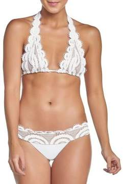 Pilyq Water Lily Lace Halter Bikini Top
