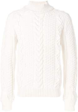 Sacai cable-knit jumper