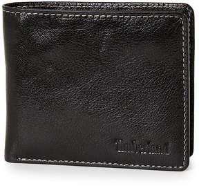 Timberland Black Leather Bifold Coin Wallet