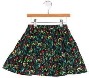 Oscar de la Renta Girls' Floral Print Skirt