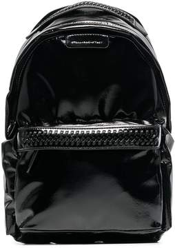 Stella McCartney black Falabella Go faux patent leather backpack