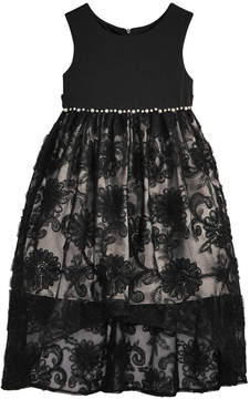 Bonnie Jean Little Girls Pearl-Trim Lace Dress