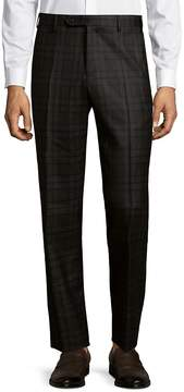 Zanella Men's Parker Flat-Front Plaid Pants