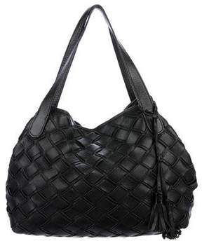 Max Mara Woven Leather Tote