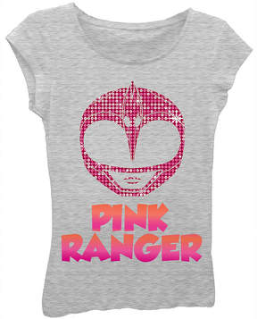 Asstd National Brand Power Rangers Girls' Pink Ranger Mask Short Sleeve Graphic T-Shirt