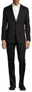 Armani Collezioni Regular Fit Tonal Striped Virgin Wool Suit