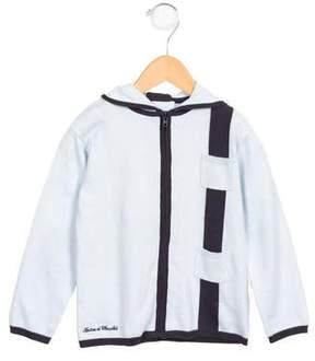 Tartine et Chocolat Boys' Hooded Zip-Up Sweater