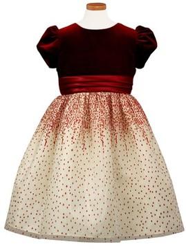 Sorbet Girl's Velvet Bodice Party Dress