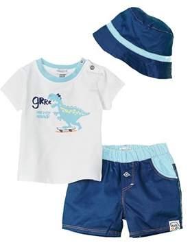 Absorba Boys' 3pc Shirt, Short, & Hat Set.