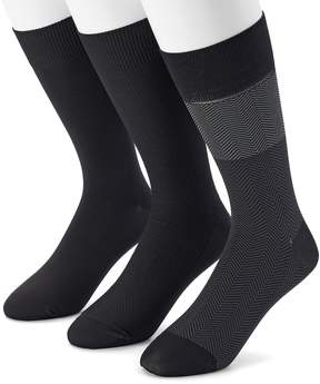 Marc Anthony Men's 3-pack Herringbone Microfiber Dress Socks