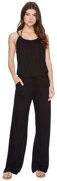Becca by Rebecca Virtue Breezy Basics Jumpsuit Cover-Up Women's Jumpsuit & Rompers One Piece