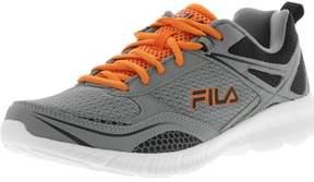 Fila Men's Speedway Monument / Black Vibrant Orange Ankle-High Running Shoe - 10M