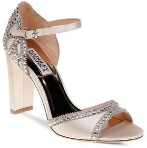 Badgley Mischka Kelly Embellished Satin High-Heel Sandals
