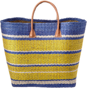 Vineyard Vines Striped Straw Canvas Tote