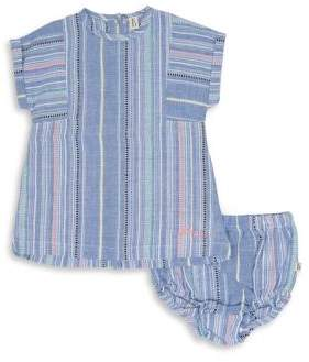 ED Ellen Degeneres Baby Girl's Two-Piece Striped Cotton Dress and Bloomers Set