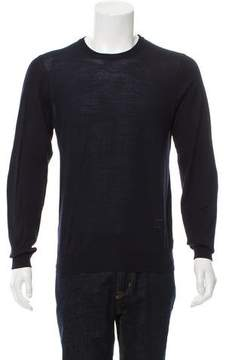 Louis Vuitton Suede-Trimmed Wool Sweater