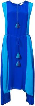 Figue colour-block belted asymmetric midi dress