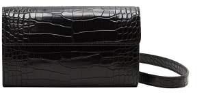 MANGO Croc-effect crossbody belt bag