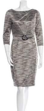 David Meister Patterned Sheath Dress