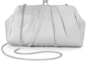 La Regale Lenore By Lenore by Pleated Satin Jacquard Pouch Clutch