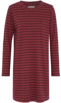 Current/Elliott Striped Cotton-Jersey Mini Dress