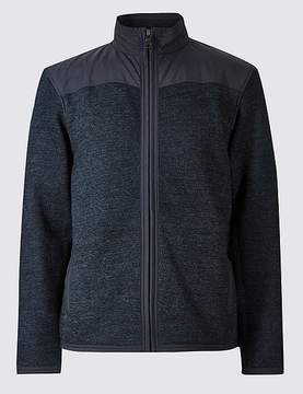 Marks and Spencer Cotton Rich Zipped Through Fleece Jacket