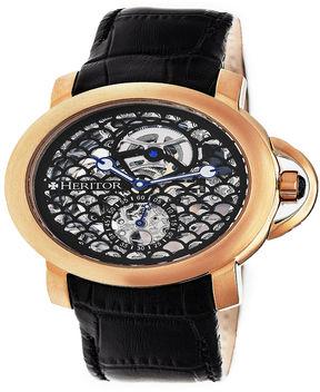 Heritor Mens Black Strap Watch-Herhr4006
