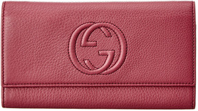 Gucci Purple Leather Soho Continental Wallet - ONE COLOR - STYLE