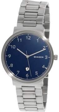Skagen Men's Ancher SKW6295 Silver Stainless-Steel Plated Quartz Dress Watch