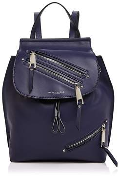 Marc Jacobs Zip Pack Small Leather Backpack - MIDNIGHT BLUE/GOLD - STYLE