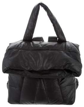 Moncler Quilted Leather Convertible Tote