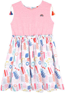Andy & Evan Girls' Pink 80'S Printed T-Shirt Dress